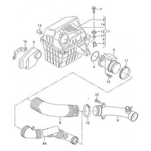 Корпус воздушного фильтра  VW T4