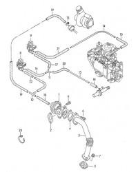 Клапан системы циркуляции VW T4