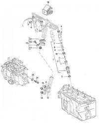 Форсунка в сборе 2,4 D VW T4