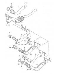 Выпускная труба передняя ACV VW T4