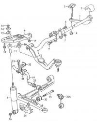 Опора амортизатора левая VW T4