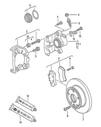 Комплект тормозных колодок передних VW T4