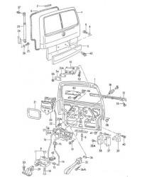 Дверь багажника с проемом под стекло VW T4