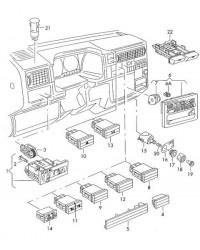Переключатель многопозиционный света фар VW T4