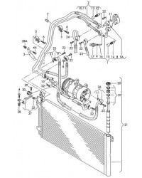 Радиатор кондиционера 1.9TDI VW Transporter T5