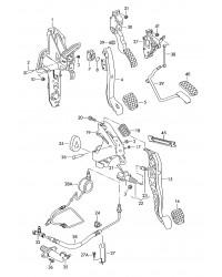 Педаль сцепления VW Transporter T5