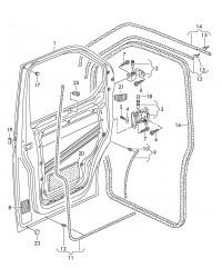 Петля нижняя передней правой двери VW Transporter T5