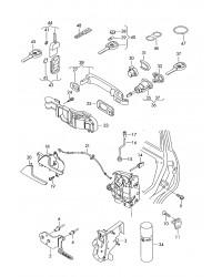 Ручка наружная правой боковой двери VW Transporter T5