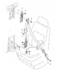 Ремень безопасности левый VW Транспортер T5