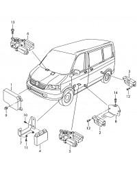 Блок управления AIRBAG VW Transporter T5