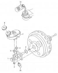 Главный тормозной цилиндр с ABS VW  T5