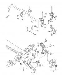 Стабилизатор передний VW T5