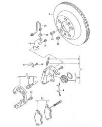 Комплект тормозных колодок Т5 задних