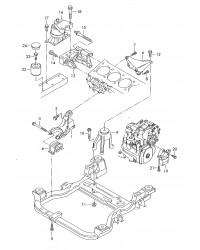 Детали крепления для двигателя и КП Т5